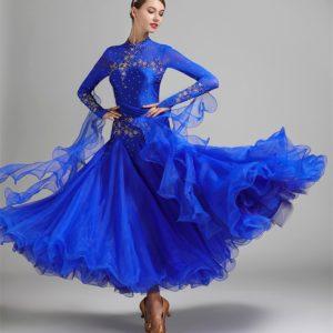 Платье стандарт синего цвета
